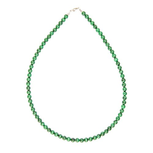 collier malachite pierres boules 6mm
