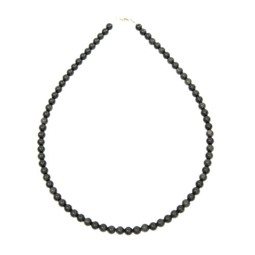 collier obsidienne noire pierres boules 6mm