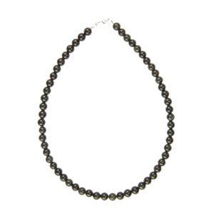collier obsidienne noire pierres boules 8mm