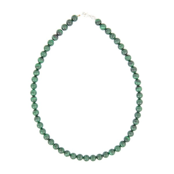 collier malachite pierres boules 8mm