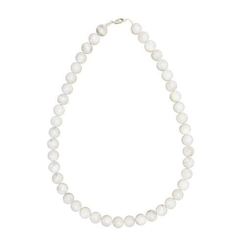 collier pierre de lune pierres boules 10mm
