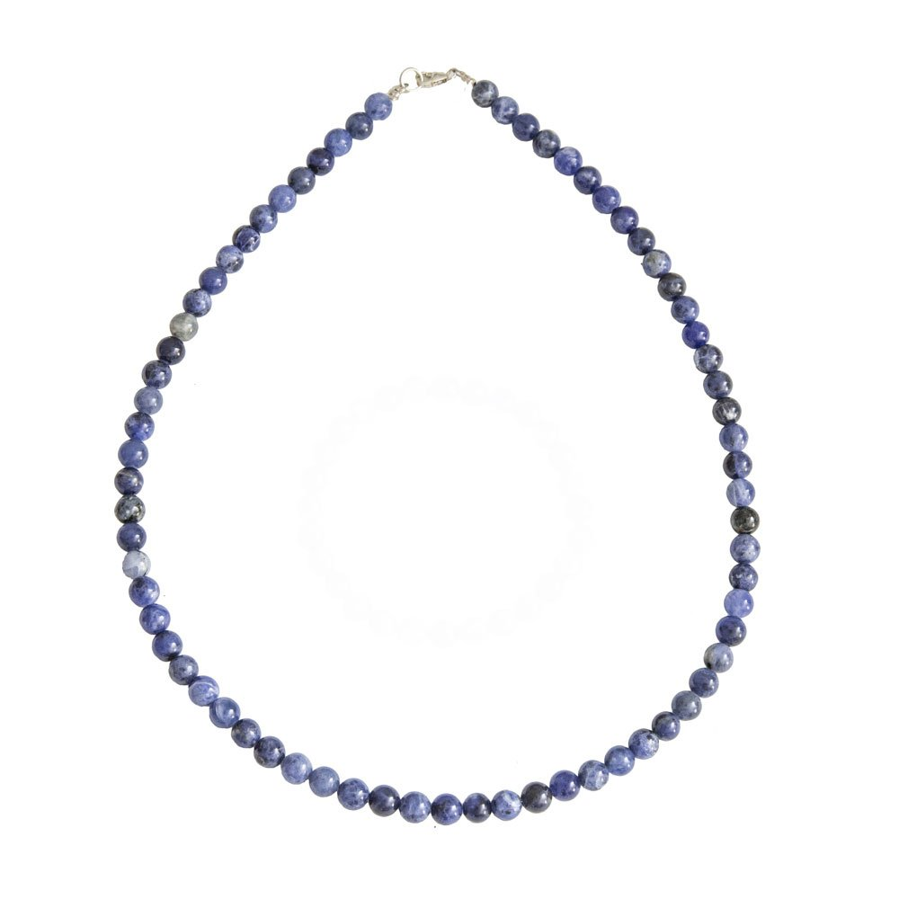 collier sodalite pierres boules 6mm