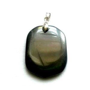 pendentif-obsidienne-noire-pierre-plate