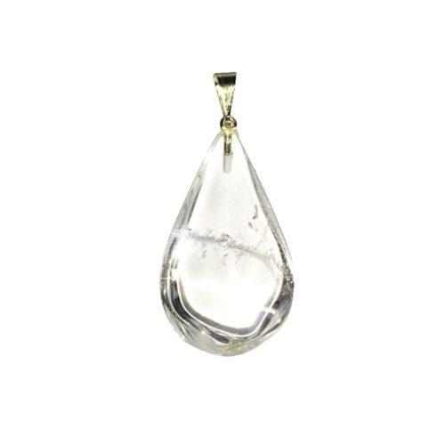 pendentif cristal de roche goutte