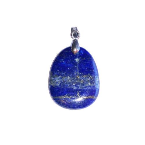 pendentif lapis-lazuli pierre plate