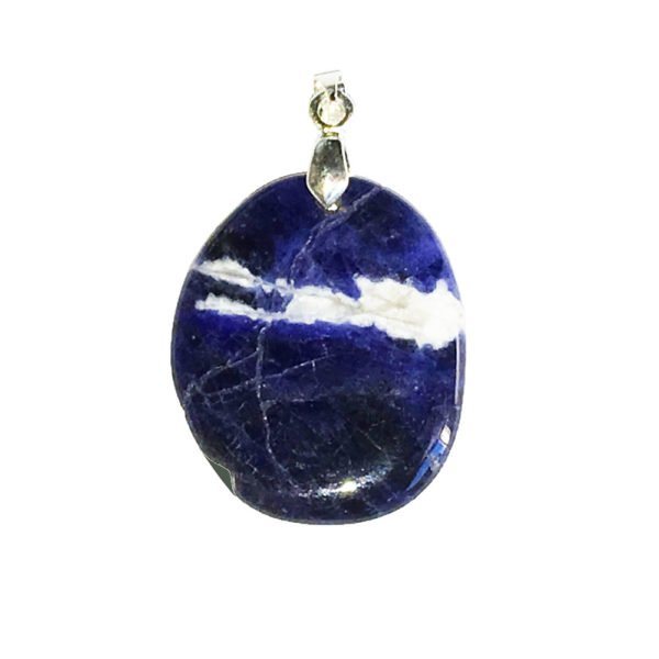pendentif sodalite pierre plate