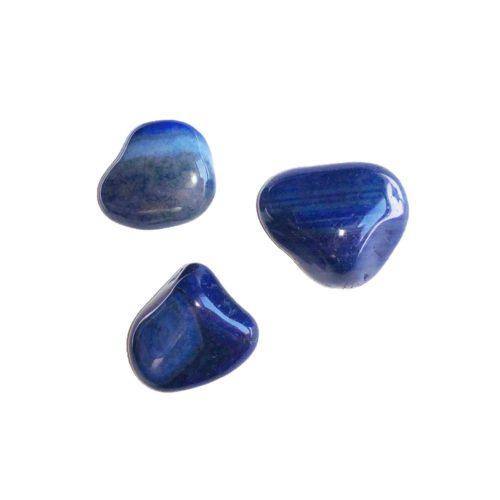 pierre roulée agate bleue
