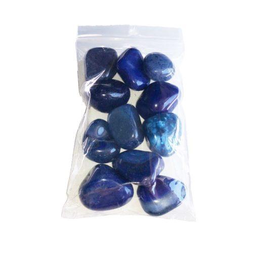 sachet pierres roulées agate bleue 250grs