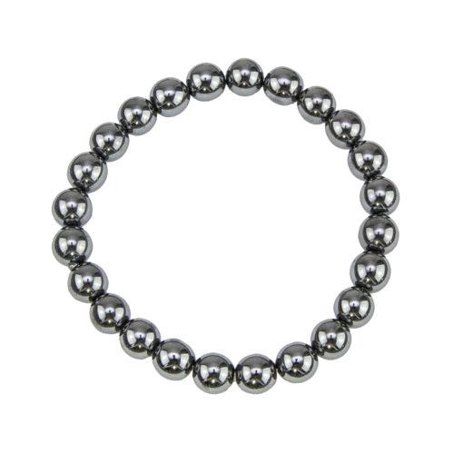 bracelet hematite pierres boules 8mm