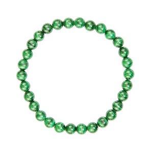 bracelet malachite pierres boules 6mm