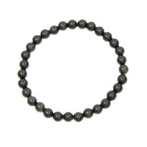 bracelet obsidienne noire pierres boules 6mm