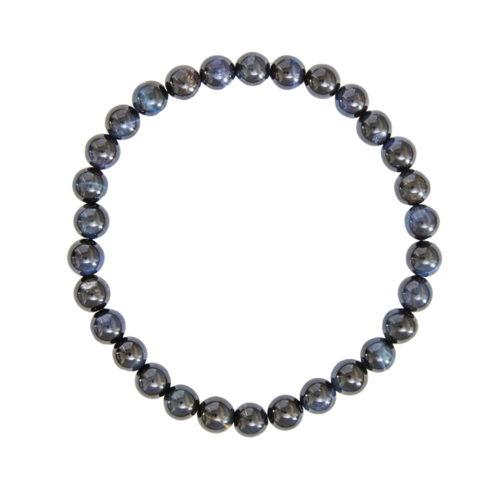 bracelet oeil de faucon pierres boules 6mm