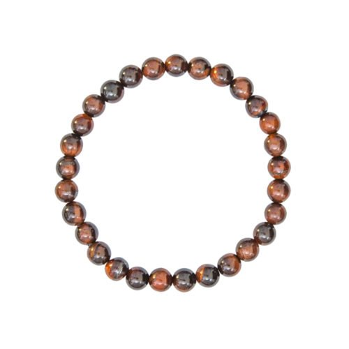 bracelet oeil de taureau pierres boules 6mm