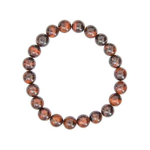 bracelet oeil de taureau pierres boules 8mm