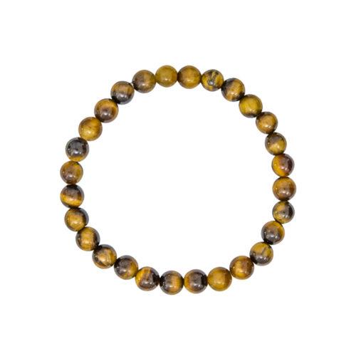 bracelet oeil de tigre pierres boules 6mm