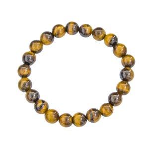 bracelet oeil de tigre pierres boules 8mm