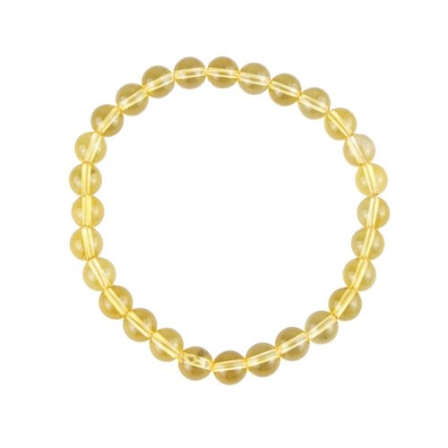 bracelet citrine pierres boules 6mm