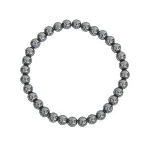 bracelet hématite pierres boules 6mm
