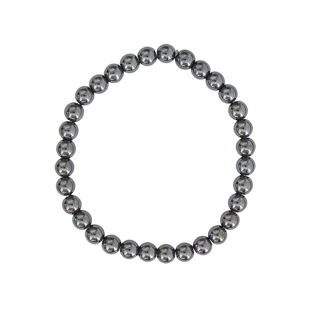 Bracelet extensible CORAIL ROUGE perles rondes 6 mm