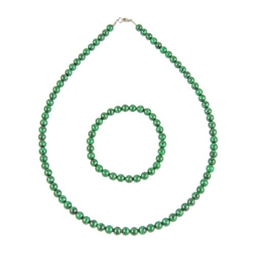 coffret malachite pierres boules 6mm