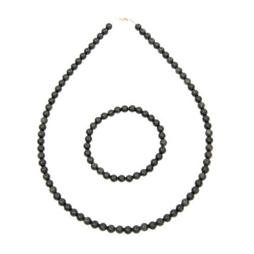 coffret obsidienne noire pierres boules 6mm