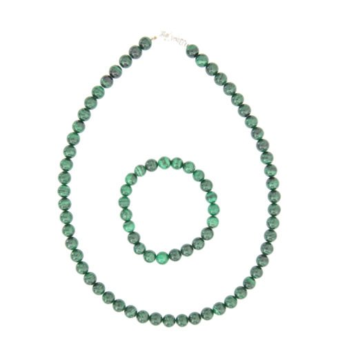 coffret malachite pierres boules 8mm