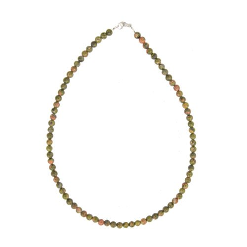 Collier unakite pierres boules 6mm