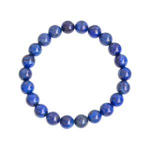 bracelet lapis lazuli pierres boules 8mm