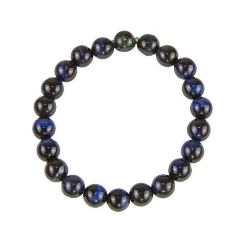 bracelet oeil de faucon pierres boules 8mm