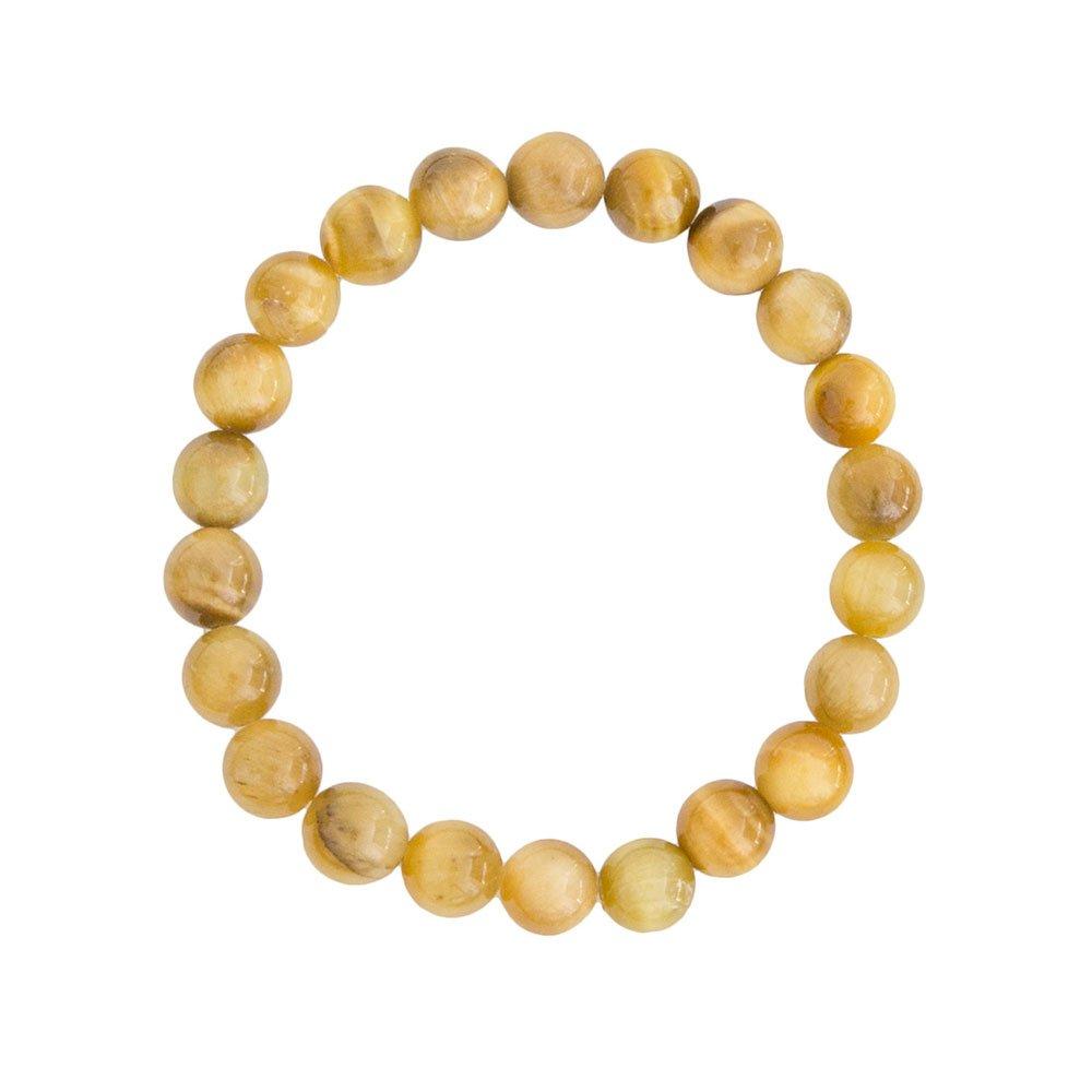 bracelet oeil de tigre doré pierres boules 8mm