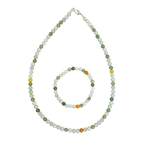 coffret jade vert pierres boules 6mm