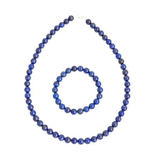 coffret lapis lazuli pierres boules 8mm