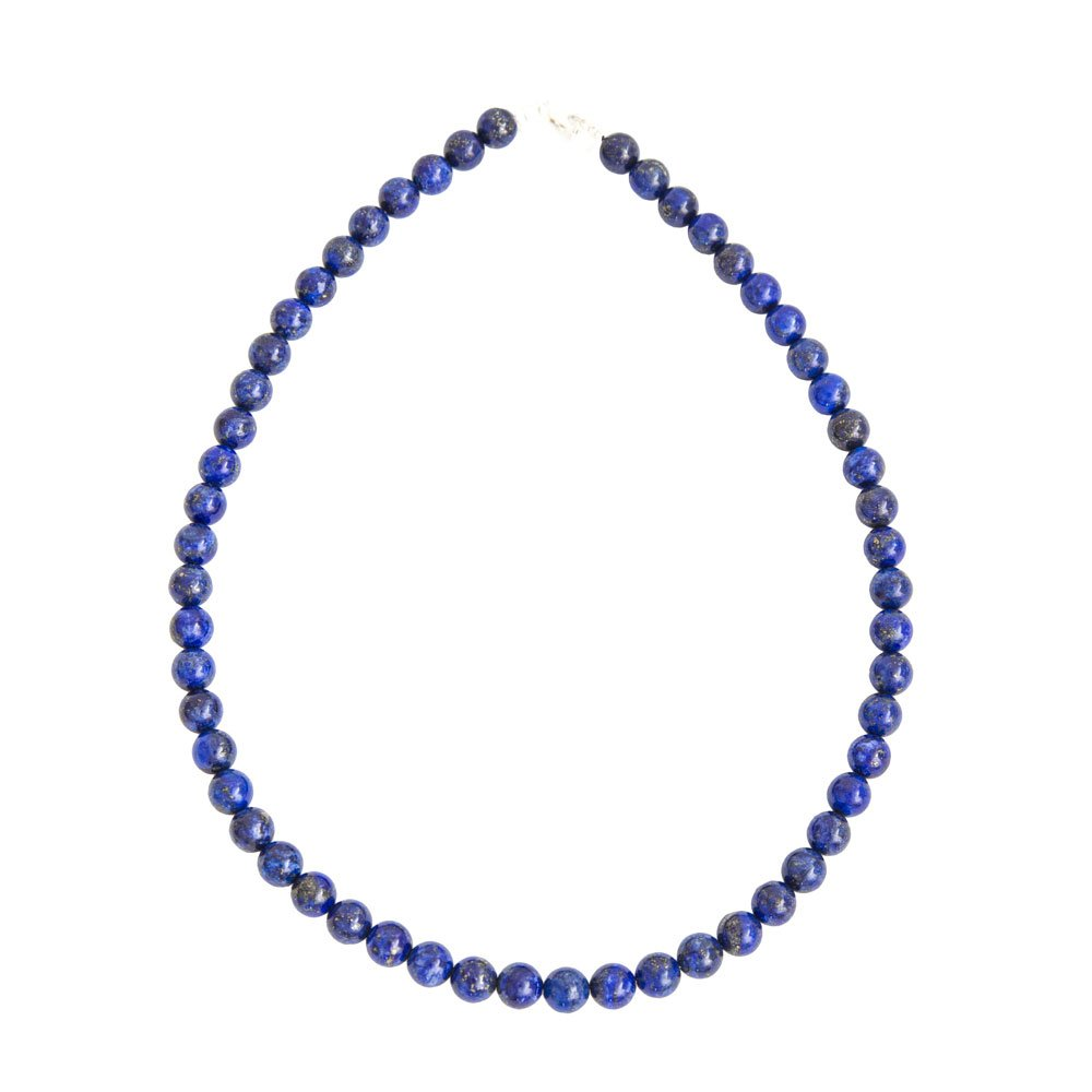 collier lapis lazuli pierres boules 8mm