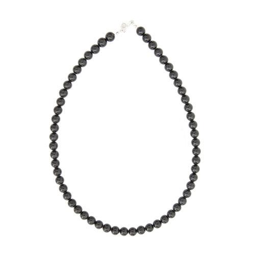 collier tourmaline noire pierres boules 8mm