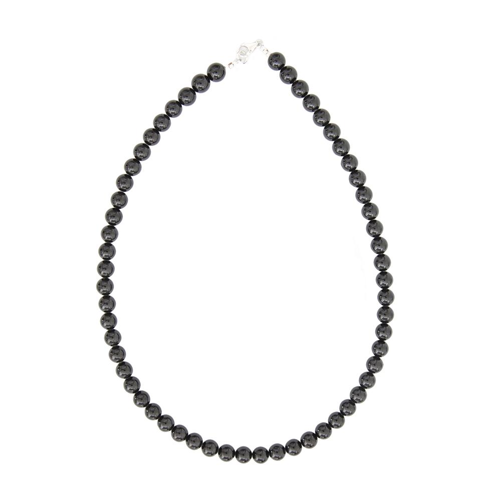 collier tourmaline noire homme
