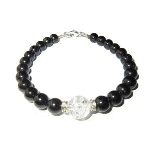 Bracelet-Agate-noire-et-Perle-en-Cristal-brisé-1