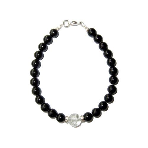 Bracelet-Agate-noire-et-Perle-en-Cristal-brisé-2