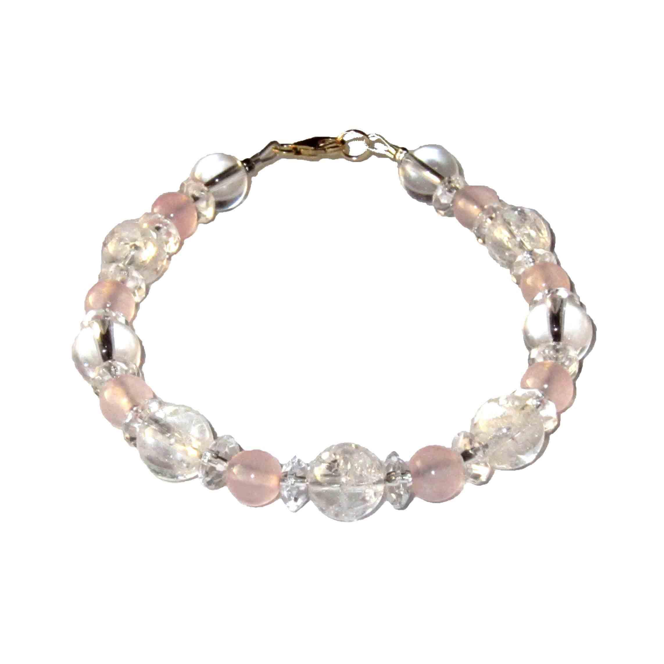 Bracelet-Cristal-de-Roche-et-Quartz-rose-1