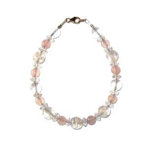 Bracelet-Cristal-de-Roche-et-Quartz-rose-2