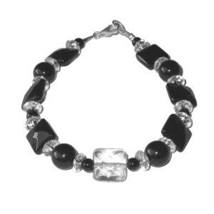 Bracelet-Cristal-de-Roche-facetté-et-Agate-facettée-1