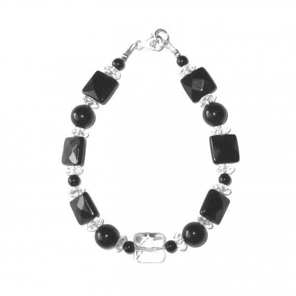 Bracelet-Cristal-de-Roche-facetté-et-Agate-facettée-2