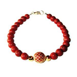 Bracelet-Jaspe-rouge-et-Perle-royale-rouge-1