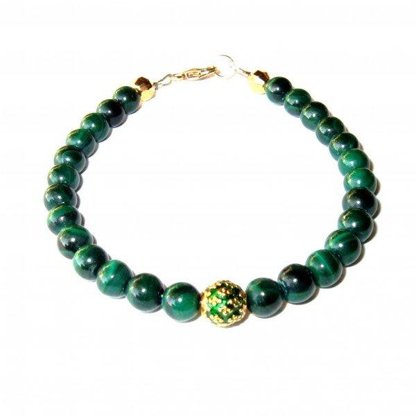 Bracelet-Malachite-et-Perle-royale-verte-1