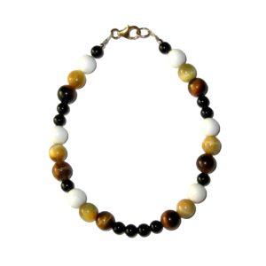 Bracelet-Oeil-de-tigre-doré-Bénitier-Agate-noire-2