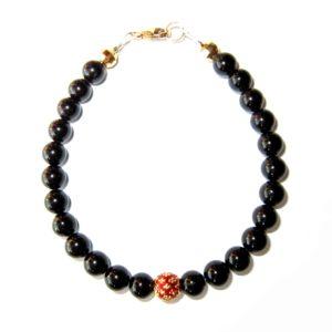 Bracelet-Tourmaline-noire-et-Perle-royale-rouge-2
