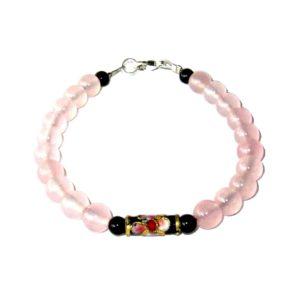 Bracelet-en-Quartz-rose-et-Agate-noire-avec-perle-chinoise-1