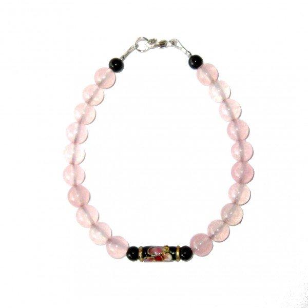 Bracelet-en-Quartz-rose-et-Agate-noire-avec-perle-chinoise-2