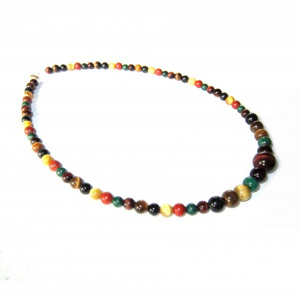 Collier-4-oeils-tigre-taureau-faucon-Malachite-Jaspe-rouge-6mm-8mm-12mm-3