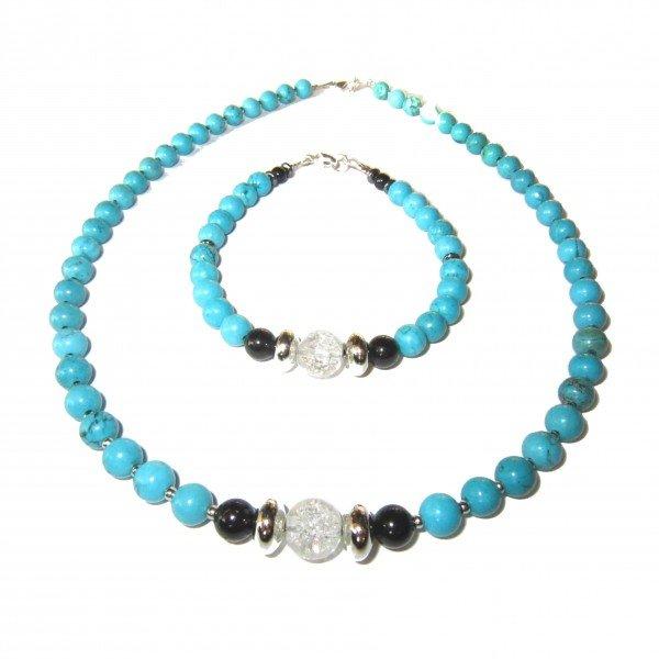 Composition-Bracelet-Collier-Turquoise-et-Perle-en-Cristal-brisé-1