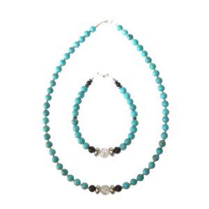 Composition-Bracelet-Collier-Turquoise-et-Perle-en-Cristal-brisé-2